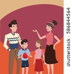 family vintage background | Shutterstock .eps vector #586844564