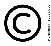 copyright symbol icon | Shutterstock .eps vector #586847300