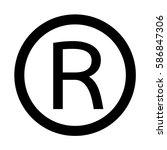registered trademark icon | Shutterstock .eps vector #586847306