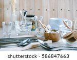 Set Of Kitchen Ware On Table ...