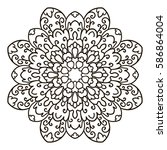 mandala. ethnic decorative... | Shutterstock .eps vector #586864004