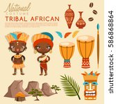 tribal african traditional... | Shutterstock .eps vector #586868864