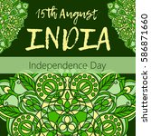 independence day of india. 15... | Shutterstock .eps vector #586871660