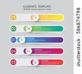 modern infographics business...   Shutterstock .eps vector #586874798