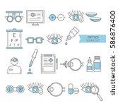 big set of symbols of... | Shutterstock .eps vector #586876400