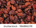 raisins as background grape...   Shutterstock . vector #586886198