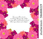 invitation with floral... | Shutterstock .eps vector #586888229