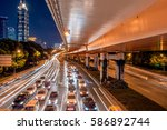 Urban Traffic Road With...