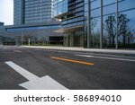 urban traffic road with... | Shutterstock . vector #586894010