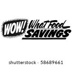 wow  what food savings   ad... | Shutterstock .eps vector #58689661
