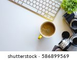 graphic designer and office... | Shutterstock . vector #586899569