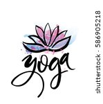 logo for yoga studio or... | Shutterstock .eps vector #586905218
