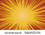 radial background with comic... | Shutterstock . vector #586905254