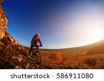 wide angle view of cyclist... | Shutterstock . vector #586911080