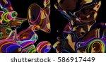 abstract neon bubbles  lava...   Shutterstock . vector #586917449