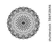 abstract design black white... | Shutterstock .eps vector #586918646
