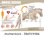 horse riding infographic vector.... | Shutterstock .eps vector #586919486