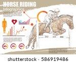 Horse Riding Infographic Vecto...