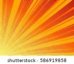 halftone texture comic book... | Shutterstock .eps vector #586919858