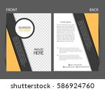 vector business flyer  magazine ... | Shutterstock .eps vector #586924760
