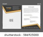 vector business flyer  magazine ... | Shutterstock .eps vector #586925000