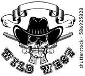 vector illustration cowboy...   Shutterstock .eps vector #586925828