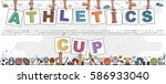 "hands holding ""athletics cup""... 
