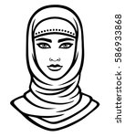 animation portrait of the arab... | Shutterstock .eps vector #586933868