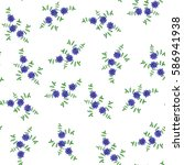 seamless floral pattern in... | Shutterstock .eps vector #586941938