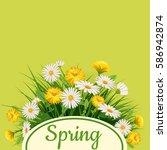 fresh spring background bouquet ...   Shutterstock .eps vector #586942874