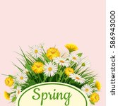 fresh spring background bouquet ...   Shutterstock .eps vector #586943000