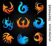Phoenix Logo Templates Set....