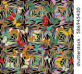seamless color mix. raster... | Shutterstock . vector #586945430