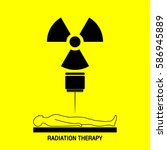 radiation therapy medical logo...   Shutterstock .eps vector #586945889