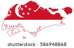 flag map of singapore | Shutterstock .eps vector #586948868
