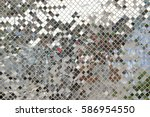 diamond mirror pattern wall. | Shutterstock . vector #586954550