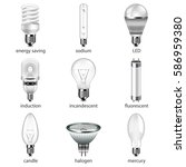 different lightbulbs icons... | Shutterstock .eps vector #586959380