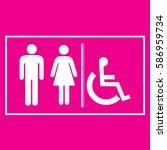 restroom sign icons  ... | Shutterstock .eps vector #586959734