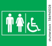 restroom sign icons  ... | Shutterstock .eps vector #586960028
