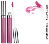 pink lip gloss tube  sample ... | Shutterstock . vector #586968506