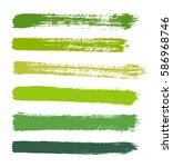 vector strokes of paint on... | Shutterstock .eps vector #586968746