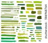 green vector brush strokes of... | Shutterstock .eps vector #586968764
