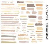 brown  beige vector brush... | Shutterstock .eps vector #586968779