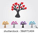 tree  heart  icon  vector... | Shutterstock .eps vector #586971404