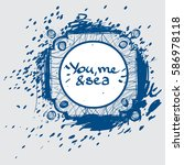 template blue abstract... | Shutterstock .eps vector #586978118