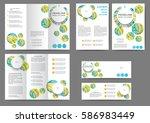 set of color brochure template... | Shutterstock .eps vector #586983449