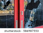broken door | Shutterstock . vector #586987553