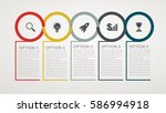 infographic design template... | Shutterstock .eps vector #586994918