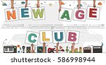 "hands holding ""new age club""... 