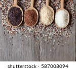 organic rice  mixed  and... | Shutterstock . vector #587008094